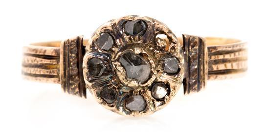 Sortija alfonsina de diamantes, del siglo XIX