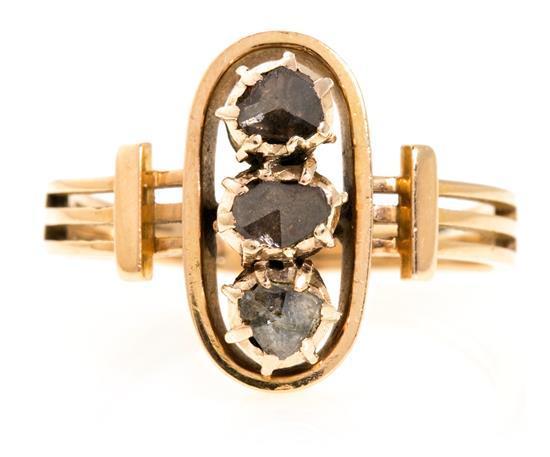 Sortija lanzadera de diamantes, hacia 1900