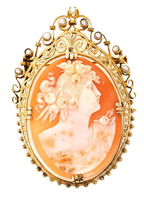 Cameo brooch, first quarter of the 20th Century