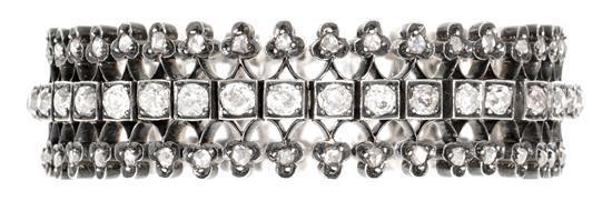 Pulsera de diamantes, del siglo XIX
