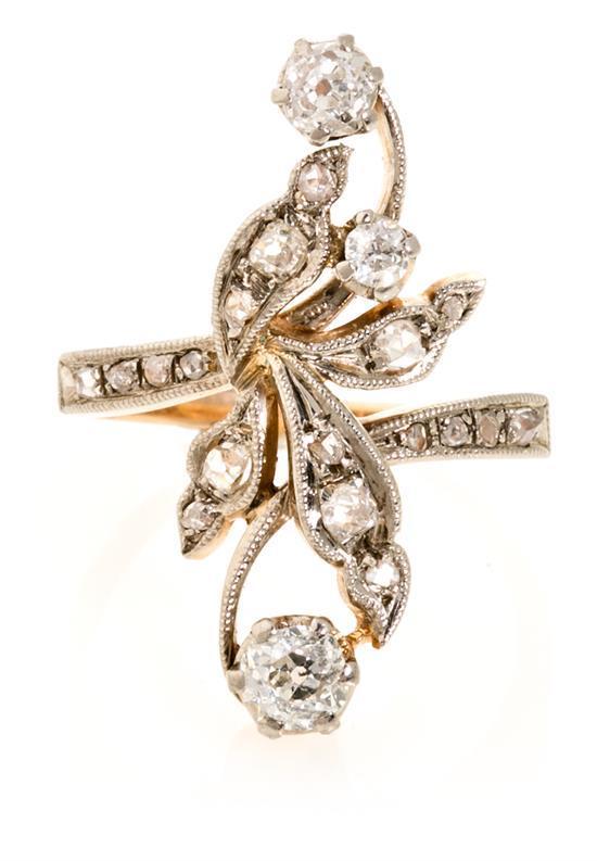Long diamond ring, first half of the 20th Century