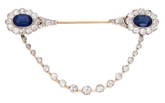 Aguja Belle Époque de diamantes, hacia 1910