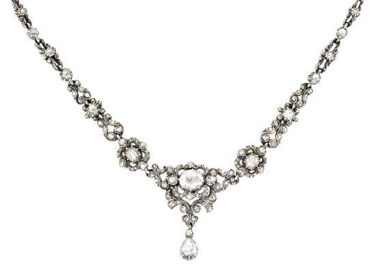 Gargantilla holandesa de diamantes de la primera mitad del siglo XX