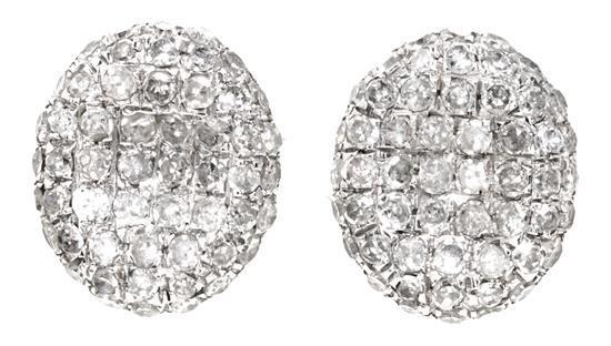 Pendientes en oro blanco y diamantes