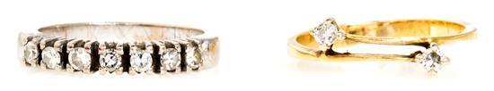 Dos sortijas de diamantes