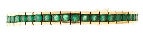 Rivière emerald bracelet