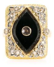 Sortija lanzadera en oro y diamantes