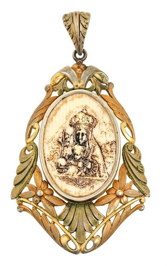 Medalla devocional noucentista, hacia 1930