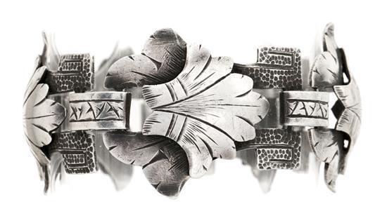 Pulsera catalana en plata, hacia 1930