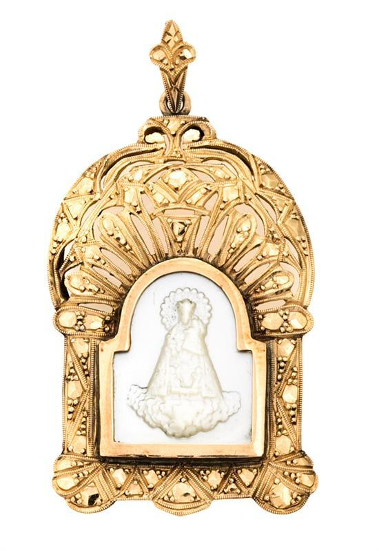 Medalla devocional de principios del siglo XX