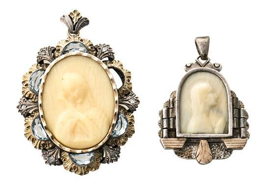 Dos medallas catalanas Art Déco, hacia 1930