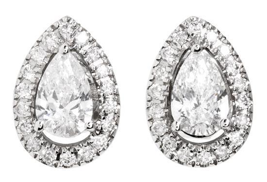Pendientes dormilonas de diamantes
