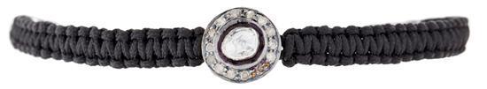 Pulsera de macramé con rosetón de diamantes