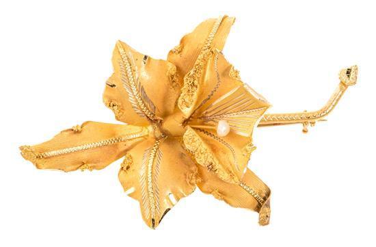 Broche en forma de orquídea