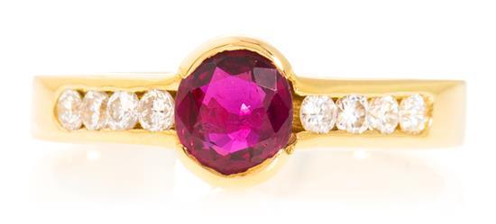 Joyería Bagués, sortija de rubí y diamantes