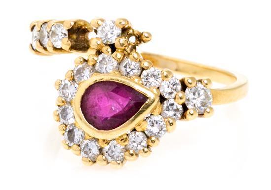 Joyería Puig Doria, sortija de rubí y diamantes