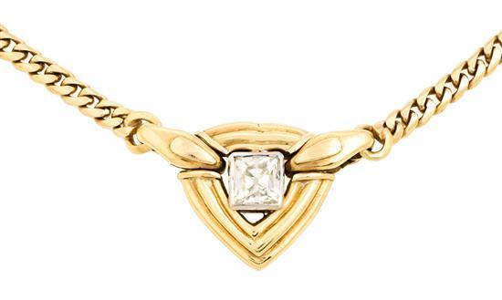 Gargantilla con diamante solitario