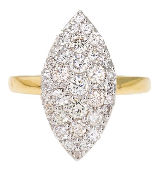 Sortija lanzadera de diamantes