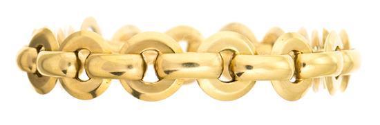 Pulsera de eslabones en oro