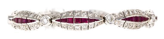 Pulsera rusa de rubíes y diamantes