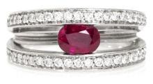 Sortija rusa de rubíes y diamantes