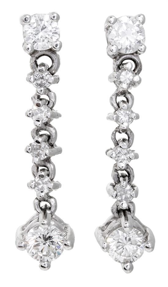 Pendientes colgantes de diamantes