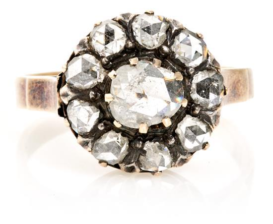 A Rossette diamond ring, circa 1900