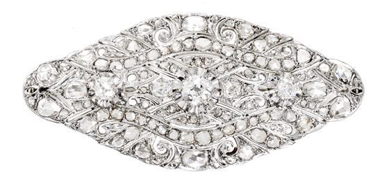 Diamond brooch, first half of the 20th Century