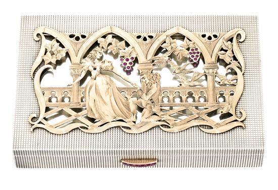 A gilded silver vanity-case, circa 1940