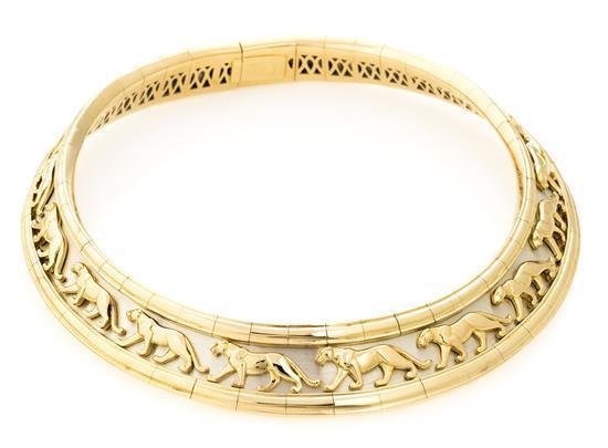 Joyería Cartier, Panthère, gargantilla en oro