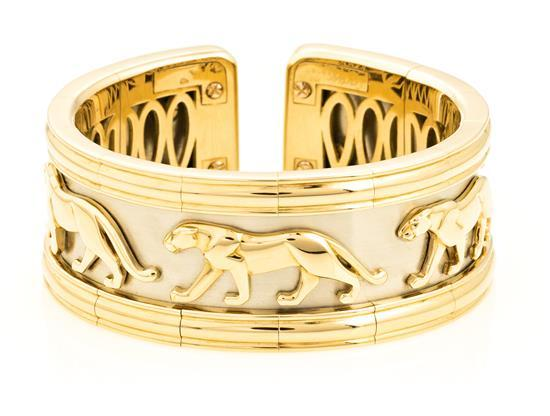 Joyería Cartier, Panthère, pulsera en oro