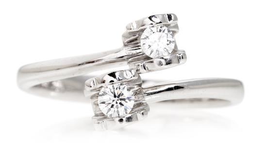 Joyería Tous, sortija tú y yo de diamantes