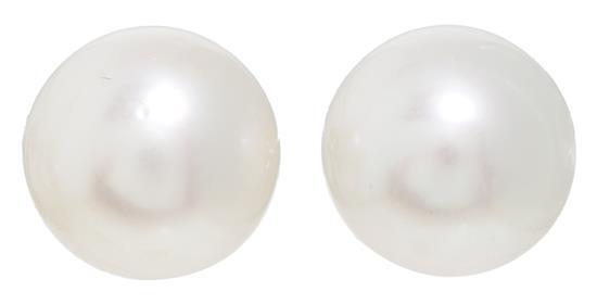 Pendientes dormilonas de perlas