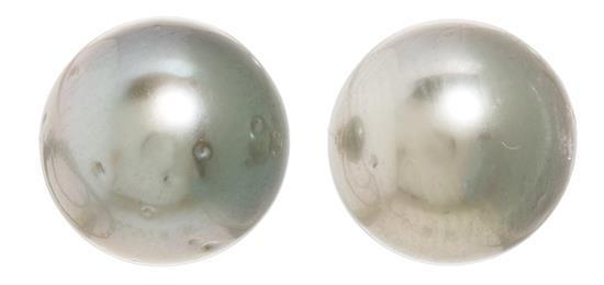 Pendientes dormilonas de perlas de Tahití