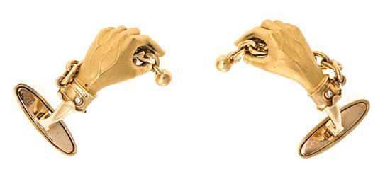 Joyería Carrera y Carrera, gemelos en oro