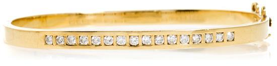 Joyería Roca, pulsera esclava en oro y diamantes