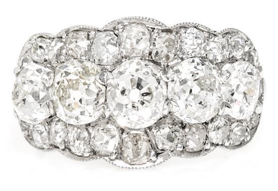 Sortija cinquillo de diamantes