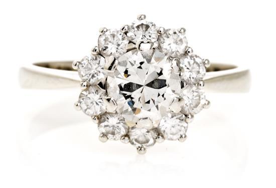 Rossette diamond ring