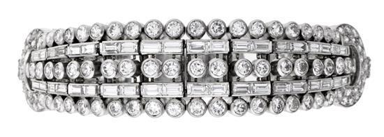 Joyería Boucheron, pulsera de diamantes, hacia 1950