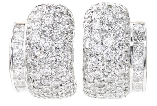 Pendientes medias criollas de diamantes