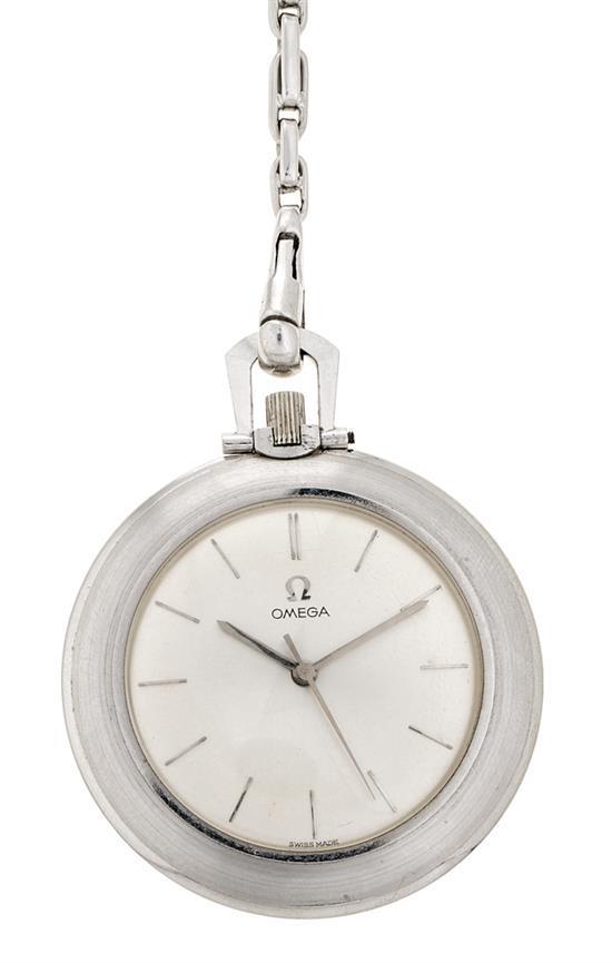 Omega, reloj de bolsillo en oro blanco