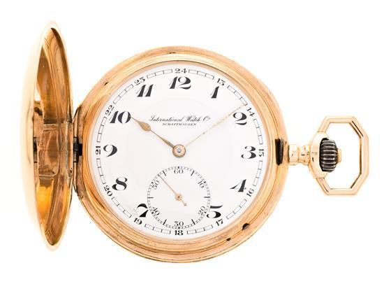 IWC, pink gold pocket watch