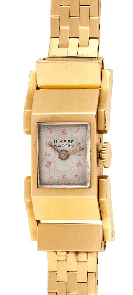 Ulysse Nardin, a gold wristwatch, circa 1940