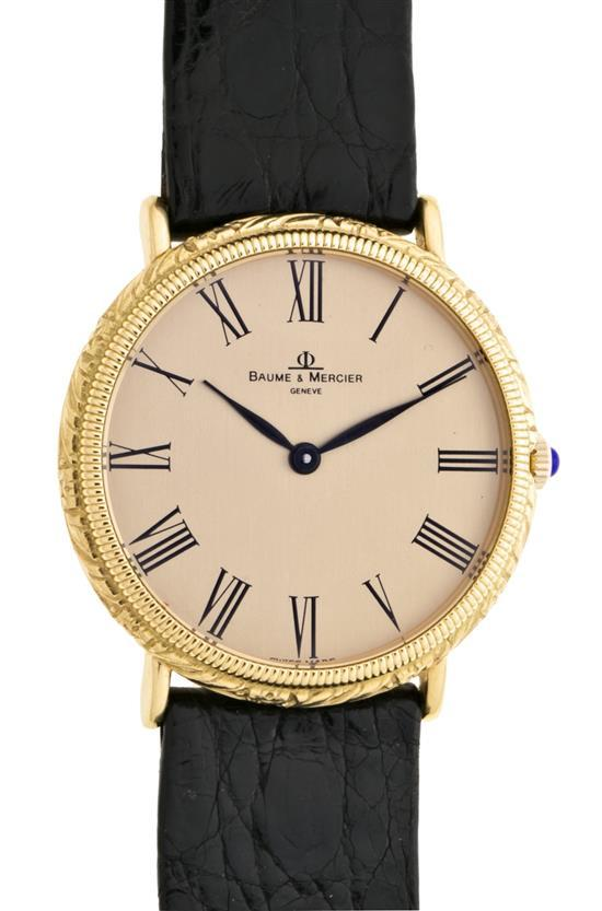 Baume & Mercier, reloj de pulsera de caballero en oro