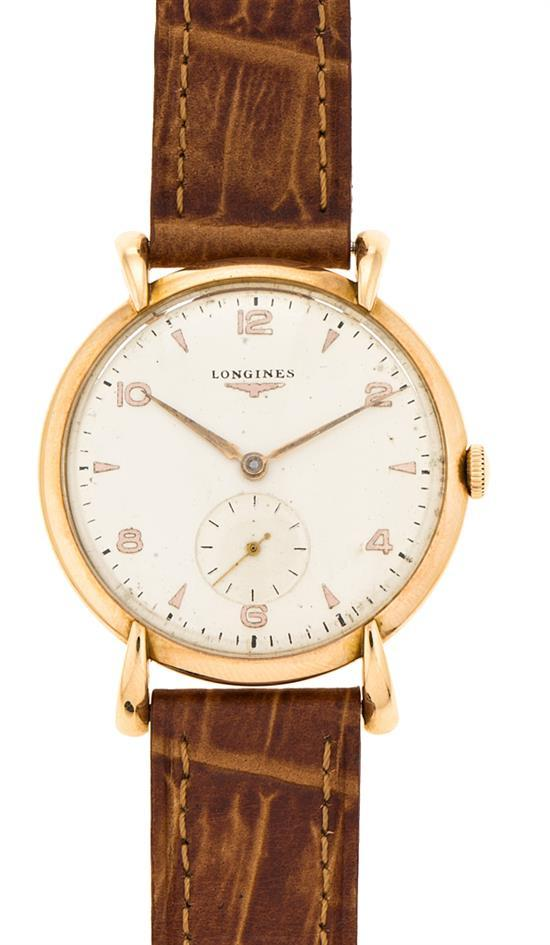 Longines, reloj de pulsera de caballero en oro