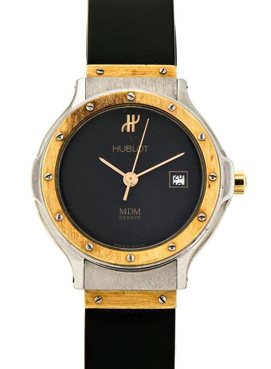 Hublot, Classic, reloj de pulsera de señora en acero y oro