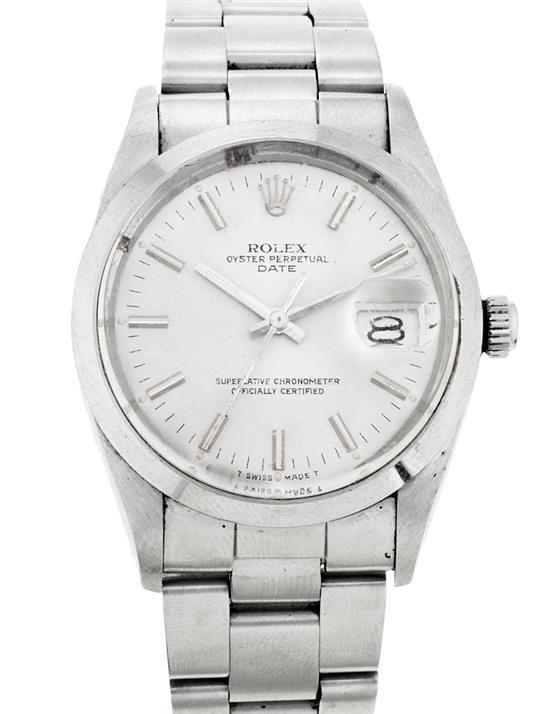 Rolex, Date, reloj de pulsera de caballero en acero