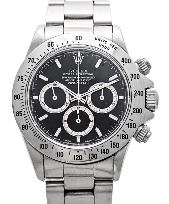 Rolex, Daytona, a gentleman's steel wristwatch