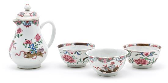 Chinese Famille Rose porcelain teaset, 18th Century