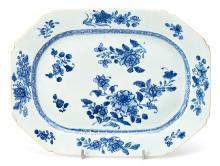 Fuente china Qianlong en porcelana de Compañía de Indias, del siglo XVIII